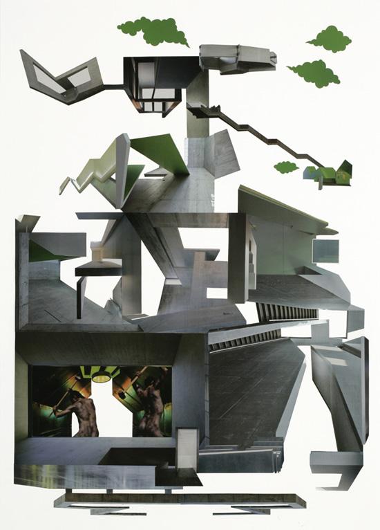 Stadtbaustelle / 70 x 50 cm